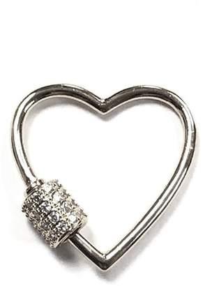 Omg Blings Medium Outlined-Heart Charm