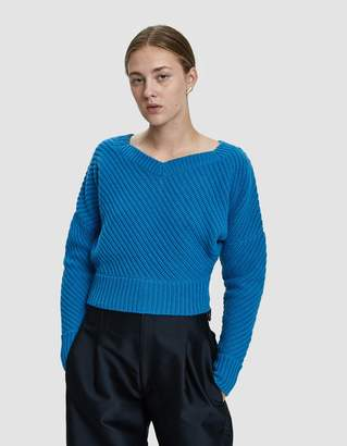 Colovos Cropped Rib Sweater