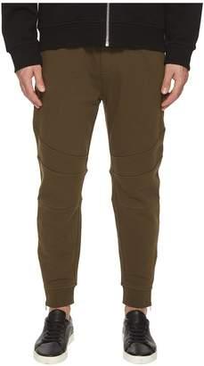 The Kooples Khaki Sweatpant Bottoms with Ankle Zip Detail Men's Casual Pants
