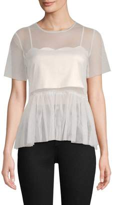 Endless Rose Women's Mesh Peplum Top