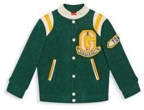 Gucci Boy's Logo Patch Bomber Jacket