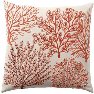 Pottery Barn Layered Coral Pillow Cover