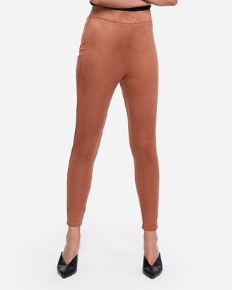 Express High Waisted Faux Suede Leggings