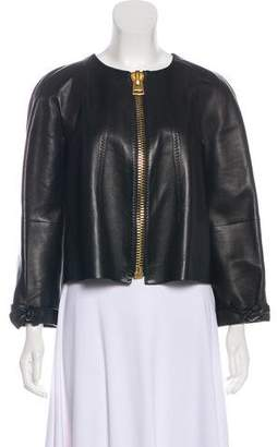 Tom Ford Leather Zip-Up Jacket