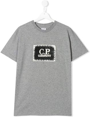 C.P. Company Kids contrast logo T-shirt