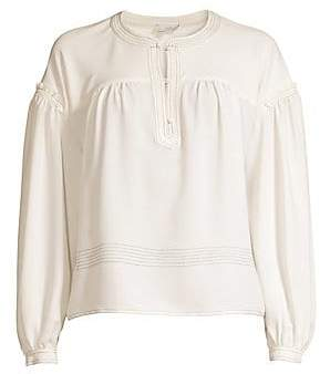 309db859419686 Joie Women's Mirna Chiffon Peasant Sleeve Blouse