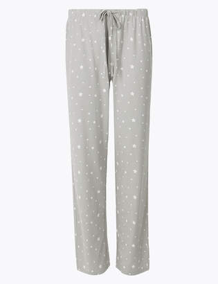d5d3bccd0147 M&S CollectionMarks and Spencer Cool Comfort Cotton Modal Star Pyjama  Bottoms