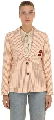 Gucci Ny Pinstriped Wool Blazer