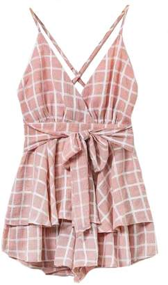 Goodnight Macaroon 'Hana' Cross Back Front Tied Babydoll Dress