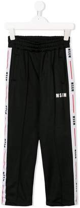 MSGM Kids side-striped track pants