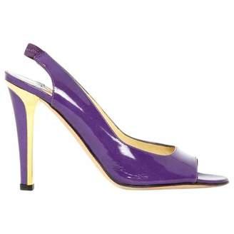 Jimmy Choo Purple Leather Heels