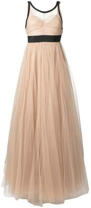 No.21 sheer tulle evening dress