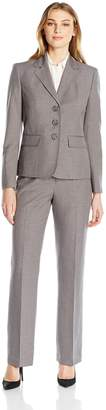 Le Suit LeSuit Women's 3 Button Grey Pant, Pearl