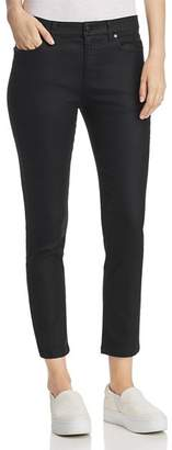 Eileen Fisher Coated Slim Ankle Jeans in Black