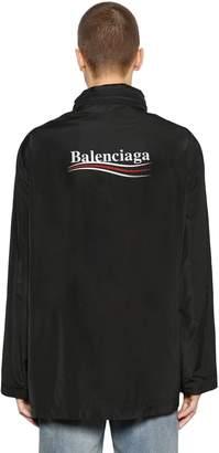 Balenciaga Political Logo Nylon Parka