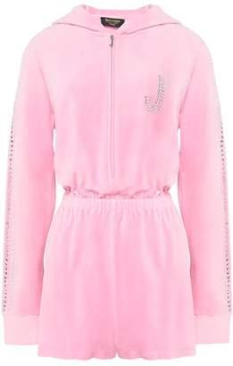 Juicy Couture Swarovski Embellished Velour Romper