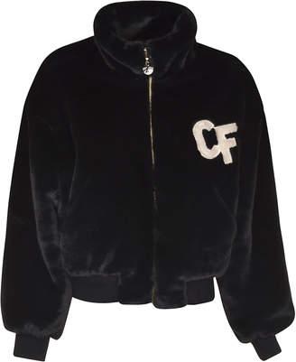 Chiara Ferragni Logo Zipped Fur Bomber