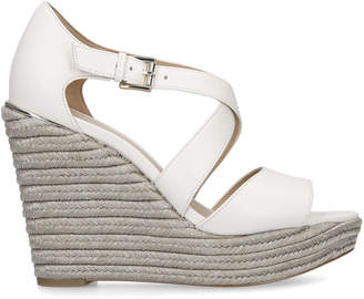 a7f429558f5 MICHAEL Michael Kors White Heeled Sandals For Women - ShopStyle UK