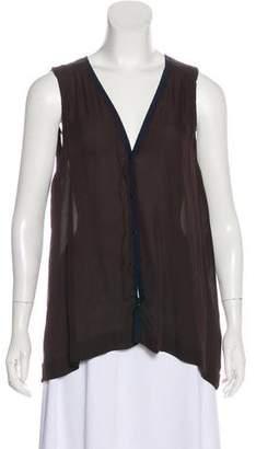 A.L.C. Semi Sheer Silk Sleeveless Blouse