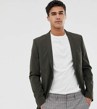 Selected Super Skinny Suit Jacket In Khaki