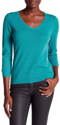 In Cashmere 3/4 Length Sleeve Cashmere Pullover