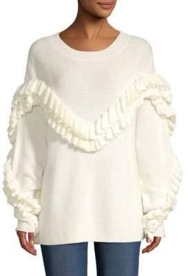 Frame Ruffled Yoke Sweater