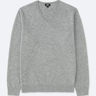 Uniqlo Men's Cashmere V-Neck Long-sleeve Sweater