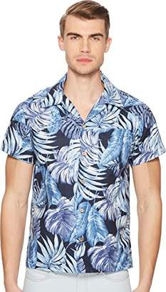 Naked & Famous Denim Men's Alohashirt-Tropical Leaves