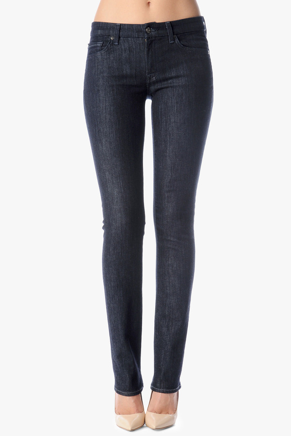 7 For All Mankind Kimmie Contour Straight In New Rinse