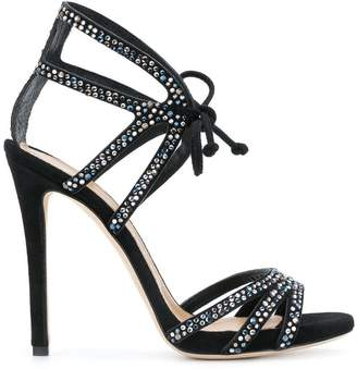 Marc Ellis rhinestone embellished sandals