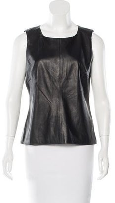 Trina Turk Sleeveless Leather Blouse $85 thestylecure.com