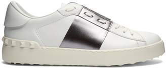 Valentino Colour-block low-top leather trainers