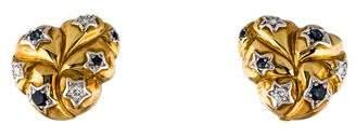 Gioia Two-Tone 18K Sapphire & Diamond Star Earrings