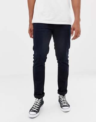 Nudie Jeans Lean Dean tapered jeans black n blue