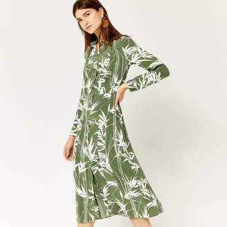 Warehouse Climbing Bamboo Silk Dress