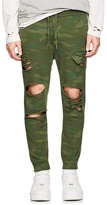 NSF Men's Jay Camouflage Cotton Jogger Pants - Green Size S