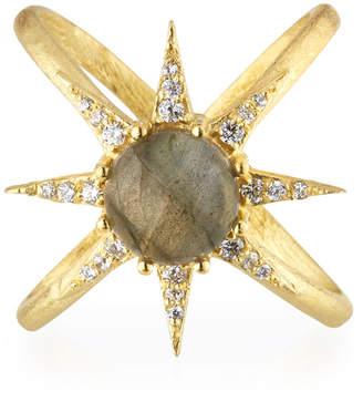 Indulgems Celestia Labradorite Starburst Ring