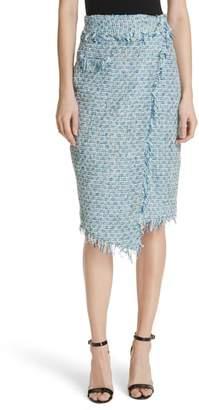 Milly Tweed Wrap Skirt