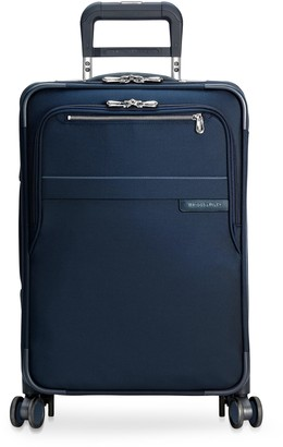 Briggs & Riley Baseline carry-on expandable spinner suitcase Navy