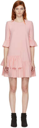 Alexander McQueen Pink Leaf Crepe Dress
