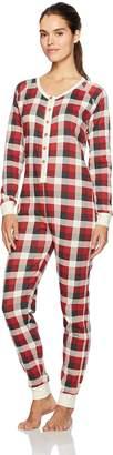 Burt's Bees Baby Women's Adult Organic 1 Piece Holiday Suit Sleepwear,