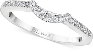 LeVian Le Vian Vanilla Diamond Curved Band (1/6 ct. t.w.) in 14k White Gold