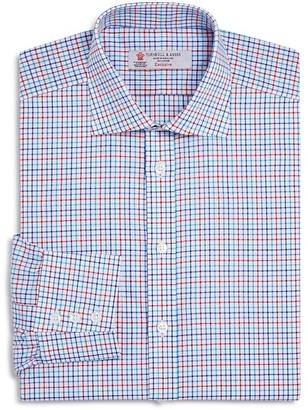 Turnbull & Asser Multi Color Grid Check Classic Fit Dress Shirt $365 thestylecure.com
