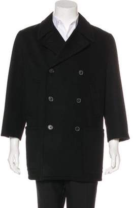 Hermes Double-Breasted Cashmere Peacoat
