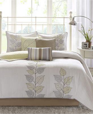 Madison Park Caelie 6-Pc. Quilted King Coverlet Set Bedding