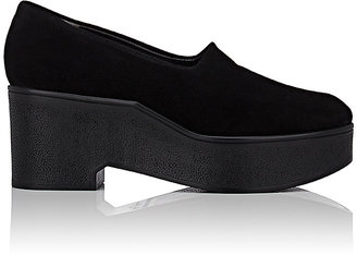 Robert Clergerie Women's Xalo Platform Wedge Loafers $475 thestylecure.com