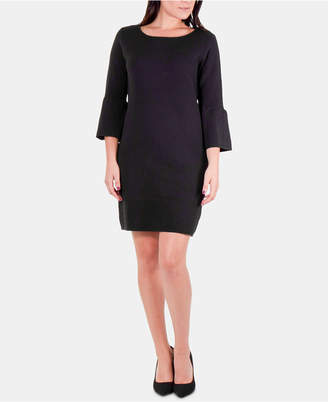 NY Collection Bell Sleeve Sweater Dress