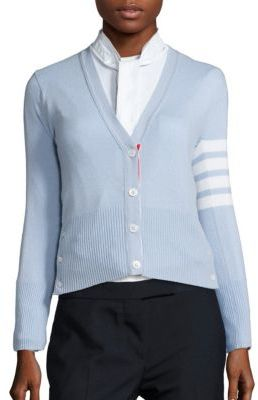 Thom Browne Cashmere Striped Cardigan $1,690 thestylecure.com