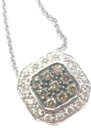 LeVian Multi Color Diamond Square Pendant Necklace