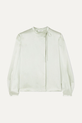 Vince Silk-satin Blouse - Mint